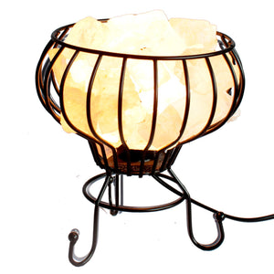 Low Salt Rock Brazier, White Salt Chunks, Cable & Bulb