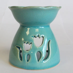 Tulip Design Oil Burner - Green