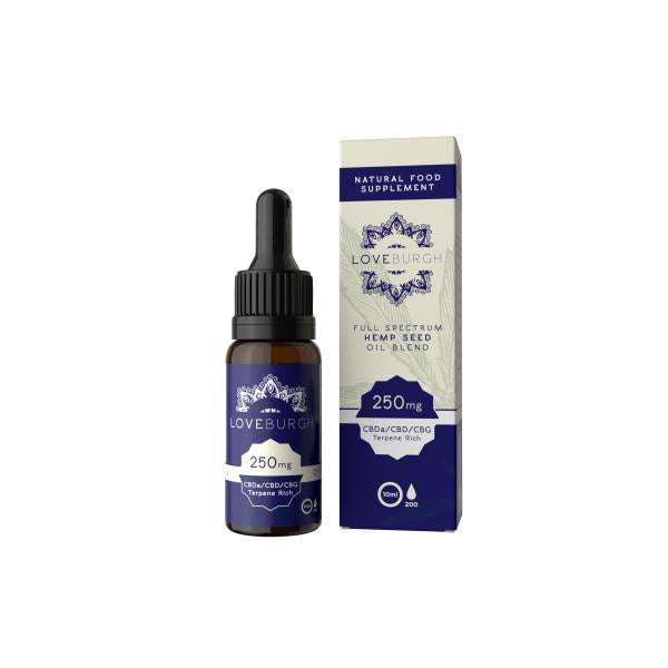 Loveburgh 250mg Hemp Seed CBD Oil 10ml