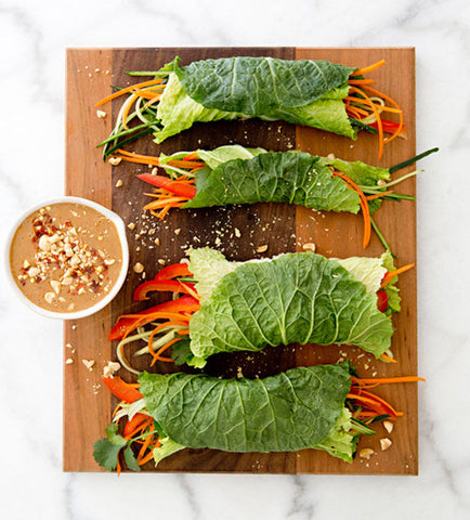 Spicy Cabbage Wraps - The Gourmet Box