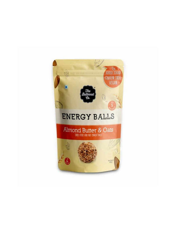 Almond Butter & Oats Energy Balls - 48g - The Butternut Co.