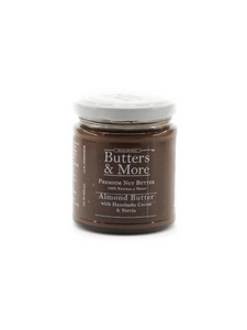 Keto Almond Butter with Hazelnuts, Dark Cocoa & Stevia - 200g - Butters & More