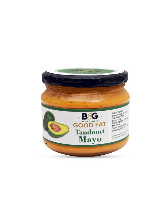 Extra Virgin Avocado Oil Tandoori Mayonnaise - 220g - Black & Green