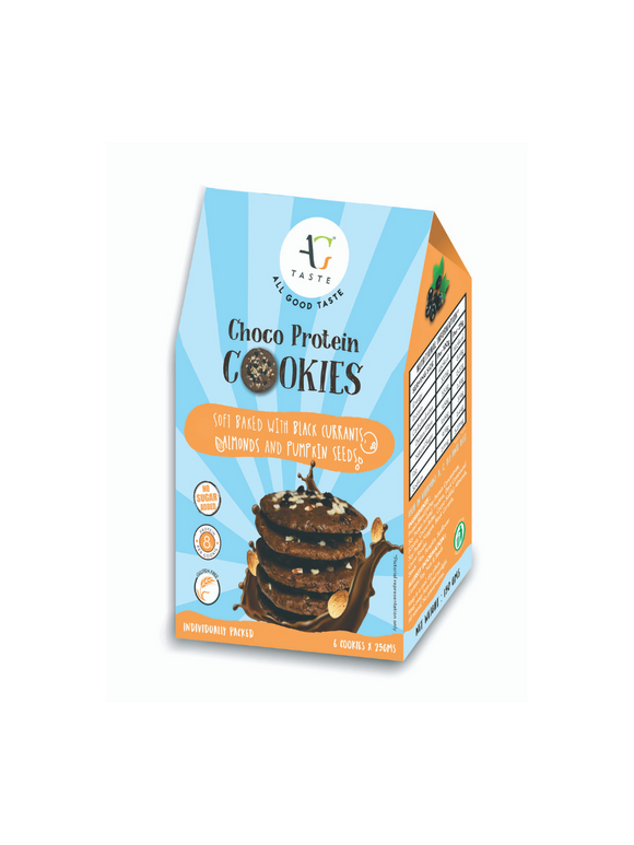 Blackcurrant Almond Protein Cookies (Gluten-Free) - 150g - All Good Taste