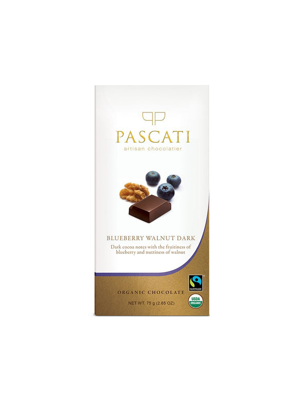 Blueberry & Walnuts - 75g - Pascati Chocolates