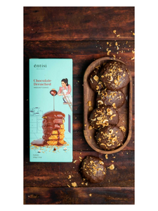 Hazelnut cookies coated with chocolate - 210g - Entisi Chocolates