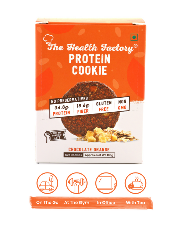 Chocolate Orange Protein Cookie - 198g - The Health Factory