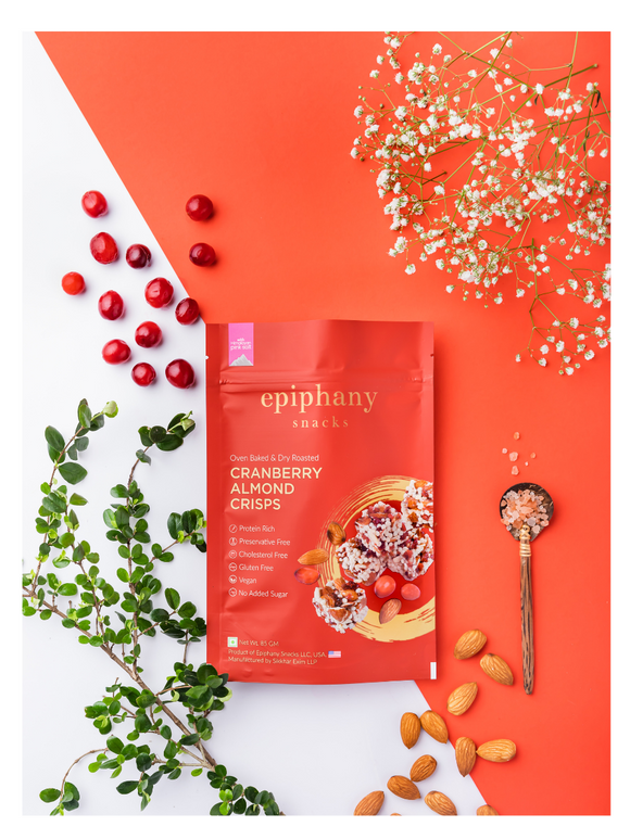 Cranberry Almond Crisps - 85g - Epiphany Snacks