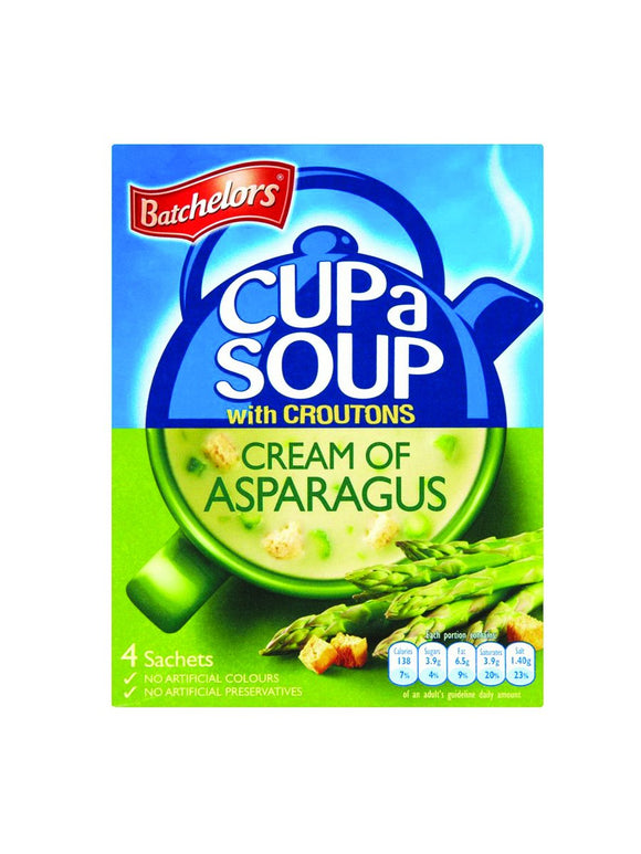 Cream of Asparagus soup with crutons - 4 sachets - Batchelors