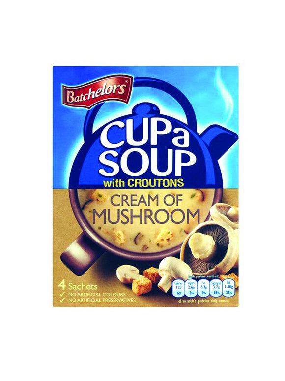 Cream of Mushroom Soup with Croutons - 4 sachets - Batchelors