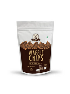 Dark Chocolate Drizzle and Sea Salt Waffle Chips - 85g - Waffle Mill
