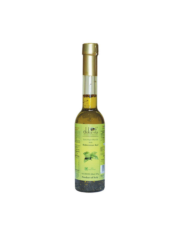 Salad Dressing Oil with Mediterranean Basil - 250ml - Dolce Vita