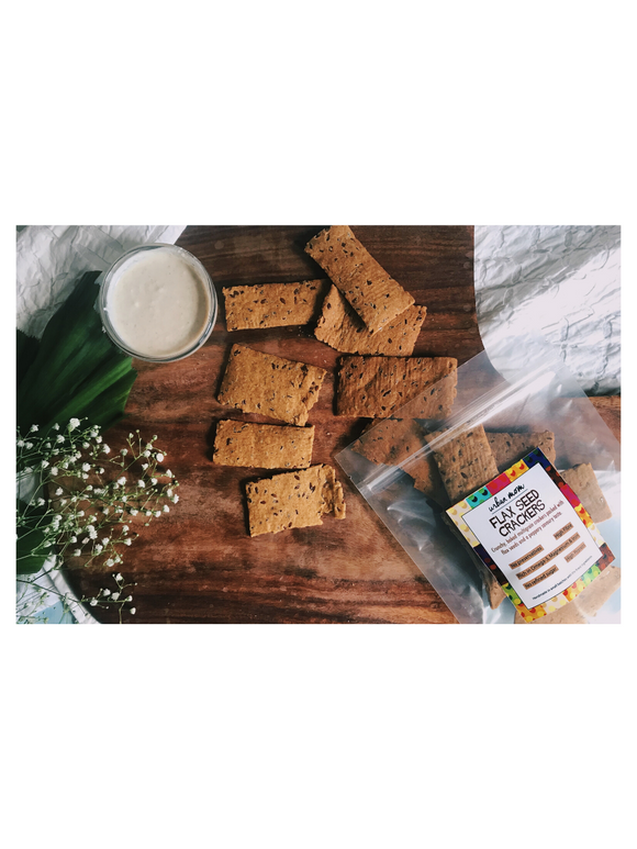 Flax Seed Crackers - 150g - Urban Moms