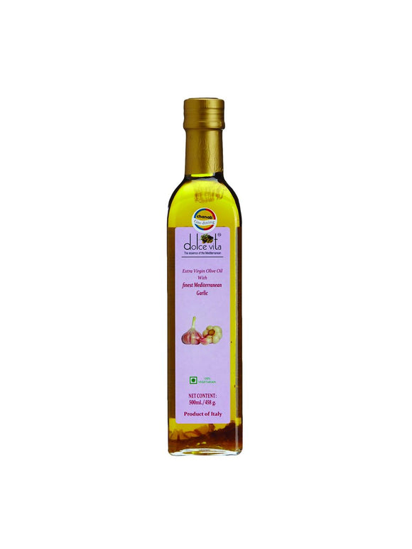 Flavored extra virgin olive oil with Garlic - 250ml - Dolce Vita