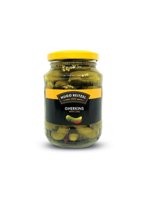 Gherkins with Chilli - 350g - Hugo Reitzel