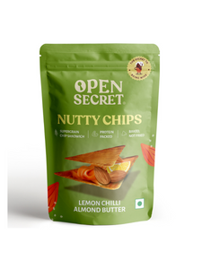 Lemon Chilli Almond Butter with Supergrains Nutty Chips - 30g - Open Secret