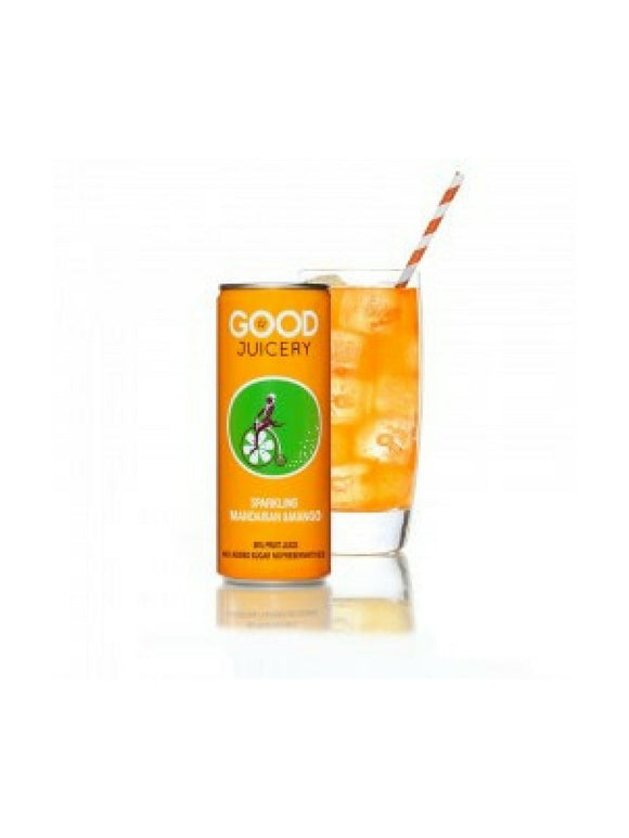 Sparkling Mandarin Mango Juice Can - 250ml - Good Juicery
