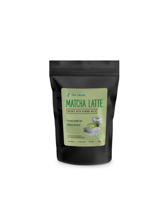 Matcha Latte Premix with Almond Milk - 100g - Tea Trunk