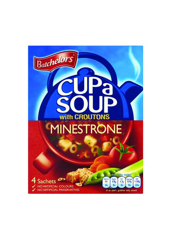Minestrone Soup with Croutons - 4 sachets - Batchelors
