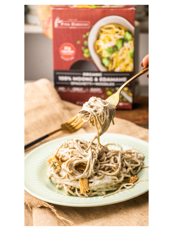 Moong & Edamame Spaghetti - 200g - Pink Harvest Farms