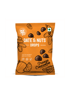 Date & Nuts Drops Orange Cinnamon with Fibre coating - 40g - Dev. Pro.