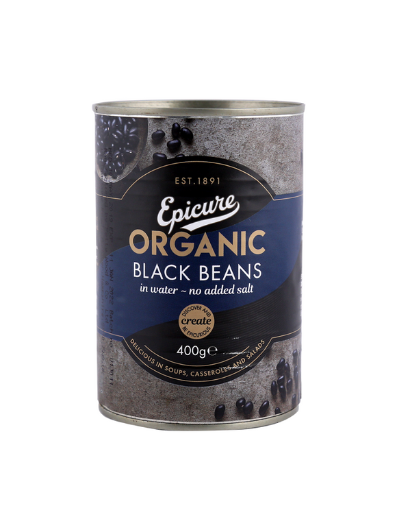 Organic Black Beans in water - 400g - Epicure