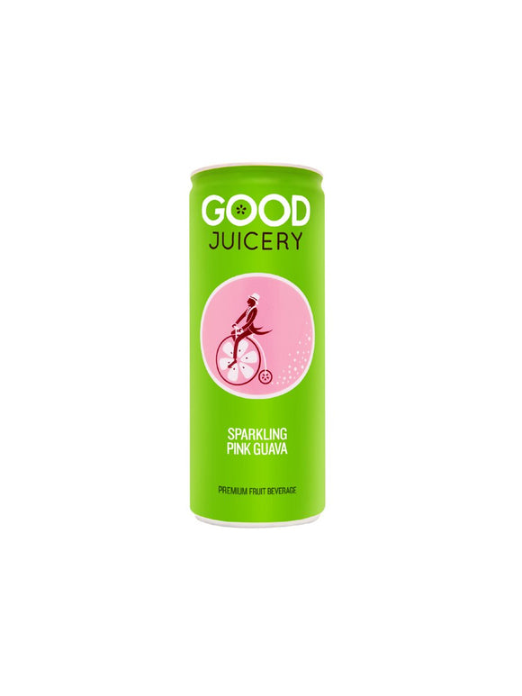 Sparkling Pink Guava Juice Can -250ml - Good Juicery