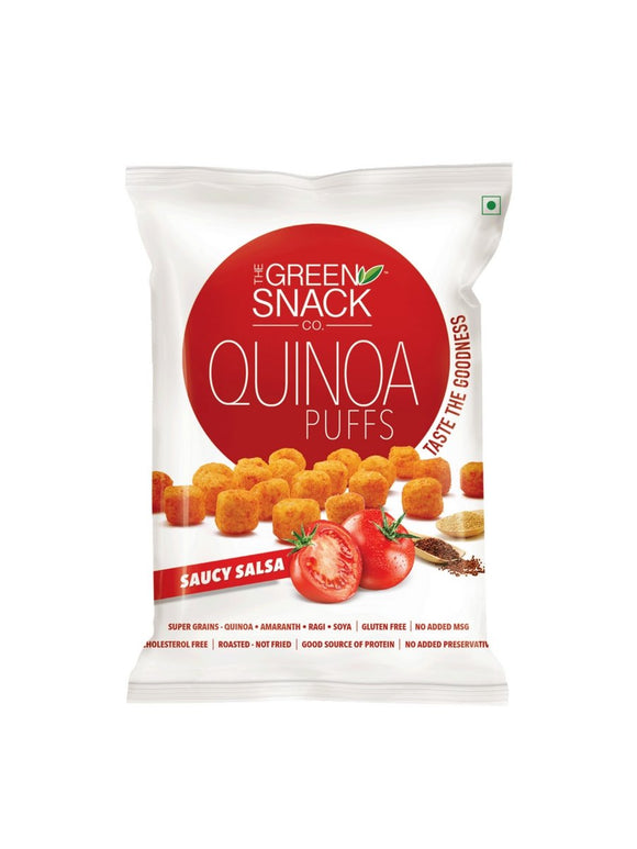 Saucy Salsa Quinoa Puffs - 50g - Green Snack Co.