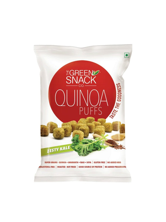 Zesty Kale Quino Puffs - 50g - Green Snack Co.