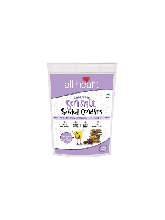 Seasalt and Dark Chocolate Seeded Crackers - All Heart