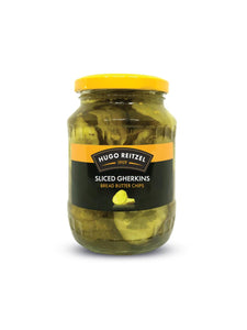 Sliced Gherkins Bread & Butter Chips - 520g - Hugo Reitzel
