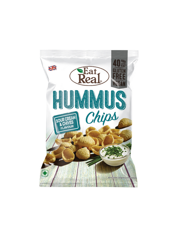 Sour Cream & Chives Hummus Chips - 40g - Eat Real