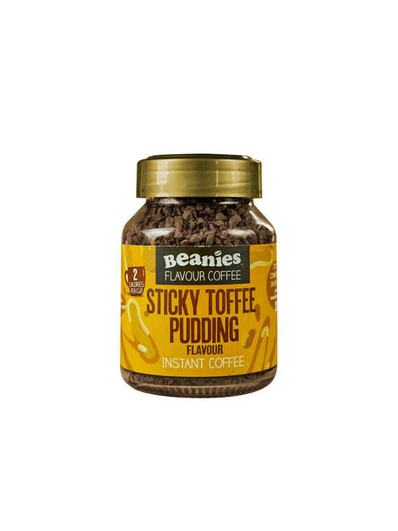 Sticky Toffee Pudding Flavoured Instant Coffee - 50g - Beanies