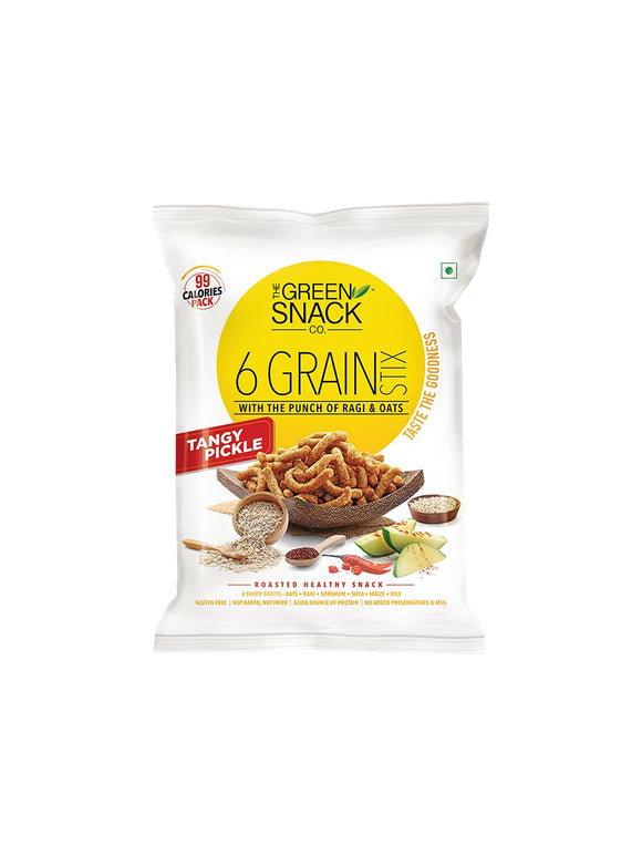 Tangy Pickle 6 Grain Stix - 25g - Green Snack Co.