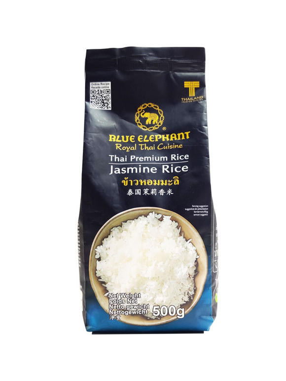 Thai Jasmine Rice- 500g - Blue Elephant