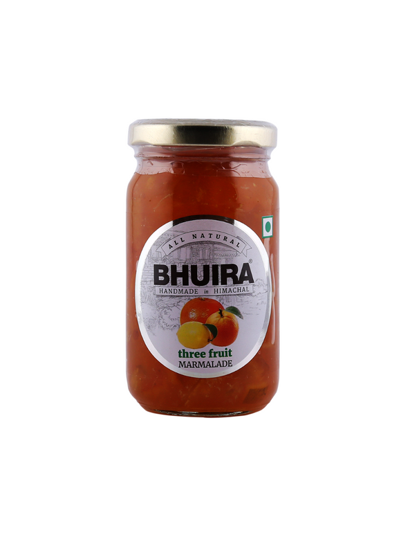 Three Fruit Marmalade (No Added Sugar) - 240g - Bhuira