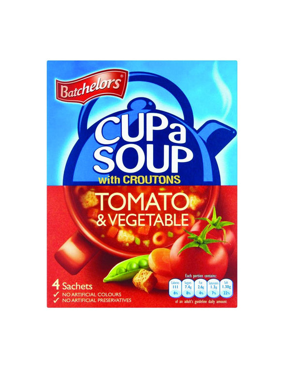 Tomato & Vegetables Soup w/croutons - 4 sachets - Batchelors