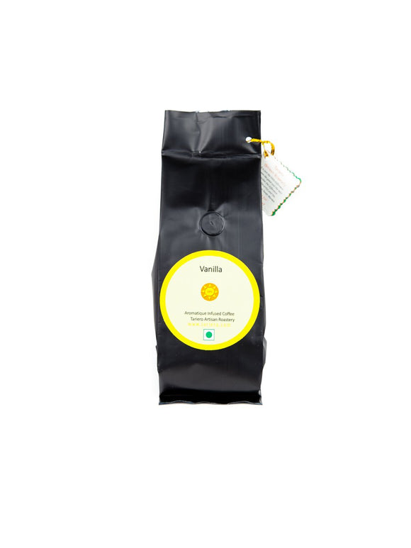 French Vanilla Infused Coffee - 250g coarsely ground- Tariero Artisan Roastery