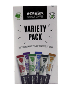 Variety PackFlavoured Instant Coffee Sticks - 10x24g - Beanies