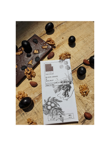 Black Grape and Walnut Dark Chocolate - 70g - Toska Chocolates