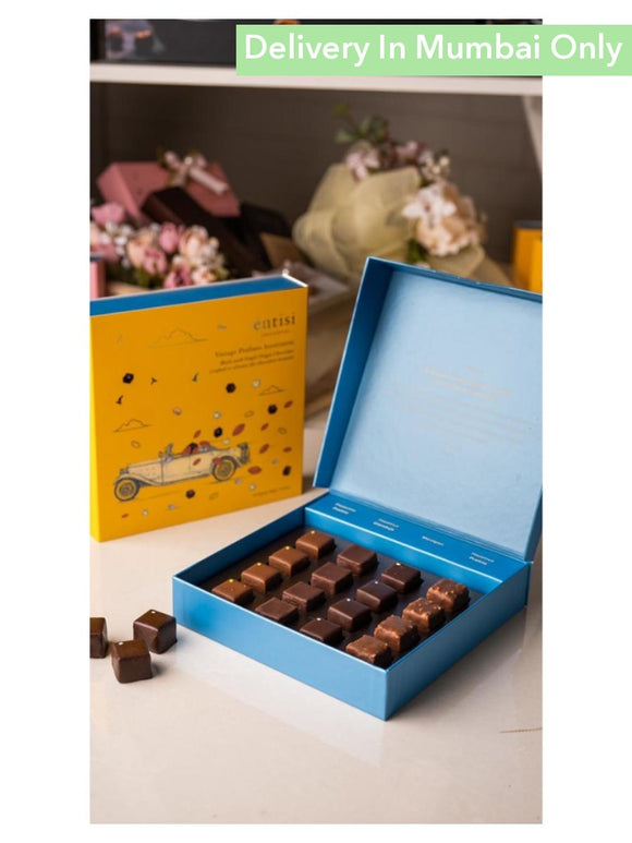 Box Of 16 Vintage Pralines - Entissi Chocolates Other Hampers