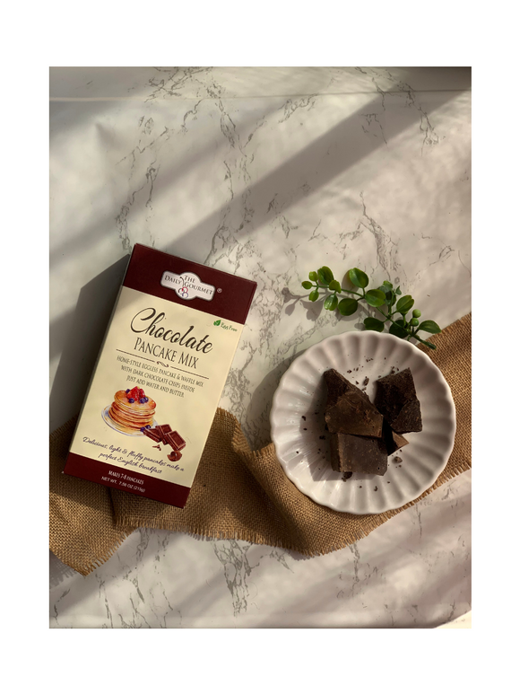 Egg-Free Chocolate Pancake Mix - 215g - The Daily Gourmet
