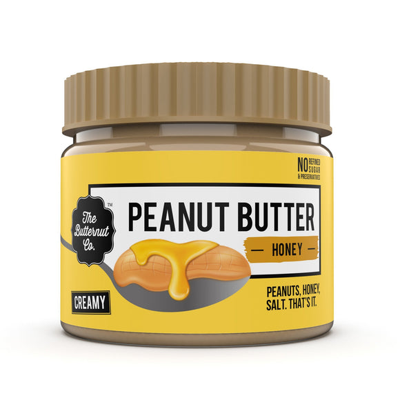 Creamy Peanut Butter with Jaggery - 340g - The Butternut Co