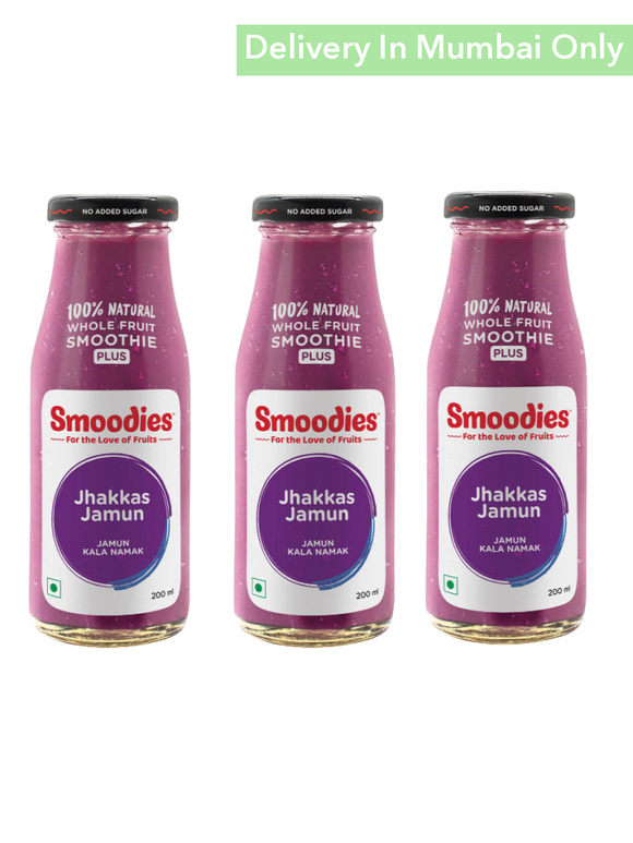 Jamun & Black Salt Vegan Smoothie (Sugarfree) - Pack Of 3 Smoodies Smoothies Keffir