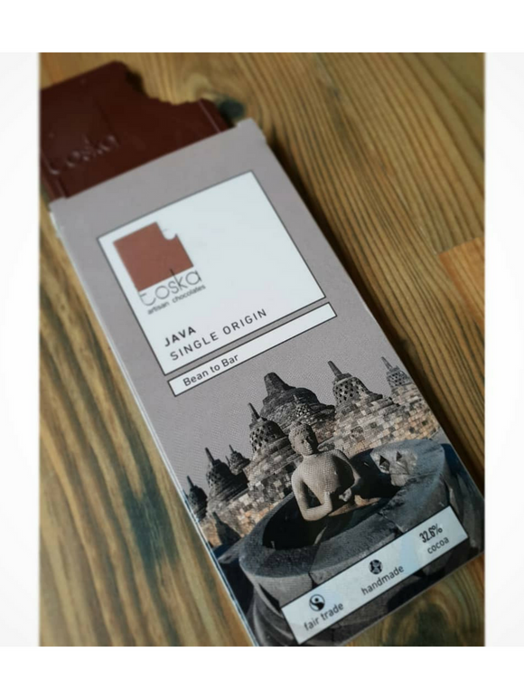 Java Single Origin Milk Chocolate - 70g - Toska Chocolate