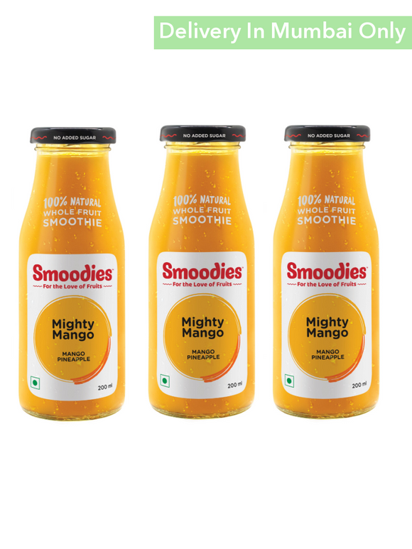 Mango & Pineapple Vegan Smoothie - Pack Of 3 Smoodies Smoothies Keffir