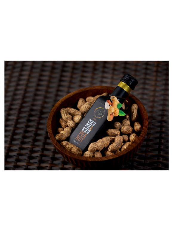 Peanut Cold Pressed Oil - 100ml - Olixir
