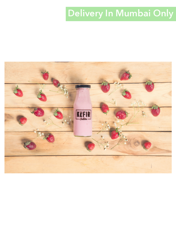Strawberry Flavour Milk Kefir - 180Ml Culture Smoothies & Keffir