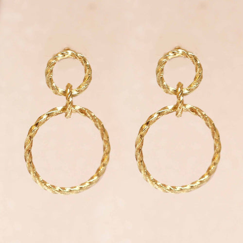 Earring Double Hoops