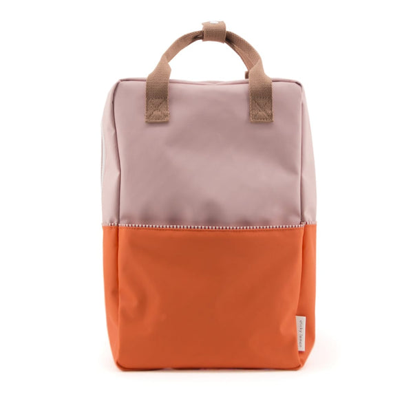 Large Backpack Colour block / Pastry Pink